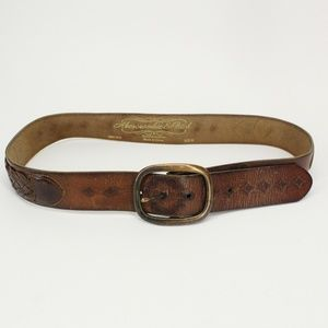 Abercrombie & Fitch Leather Braided Belt